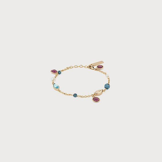 Rio Amethyst & Aquamarine Swarovski Crystal Bracelet