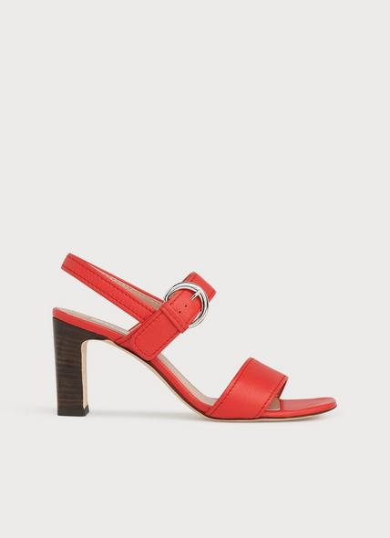 Natalie Red Leather Sandals
