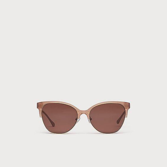 Ivanka Pink Acetate Half Frame Sunglasses