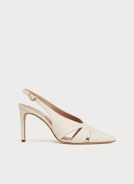 Helena White Leather Courts