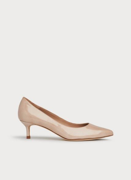 Audrey Metallic Nude Patent Leather Courts
