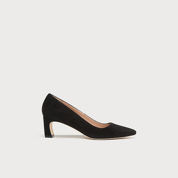 Freya Black Suede Courts