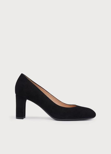 Winola Black Suede Courts