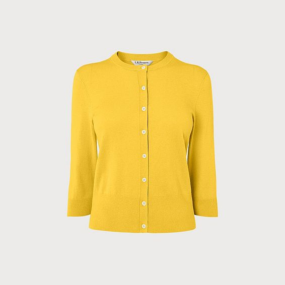 Aila Yellow Silk-Cotton Cardigan