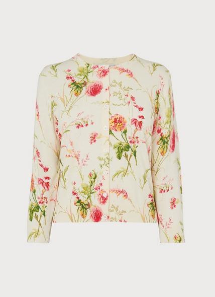 Tissie Roseau Floral Print Cardigan