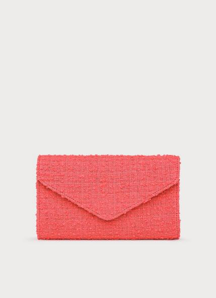 Lucia Pink Tweed Clutch