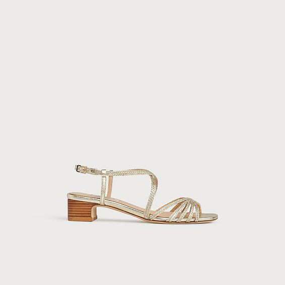 Newport Gold Rope Strappy Sandals