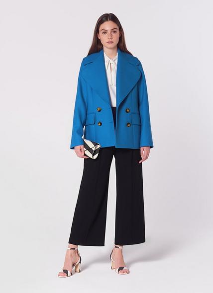 Jacob Blue Wool-Blend Pea Coat