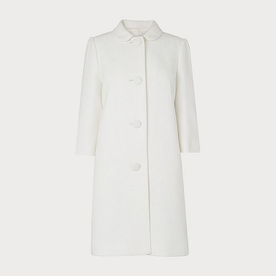 Minnie White Cotton Coat