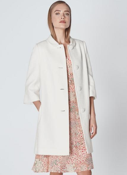 Minnie White Cotton Coat