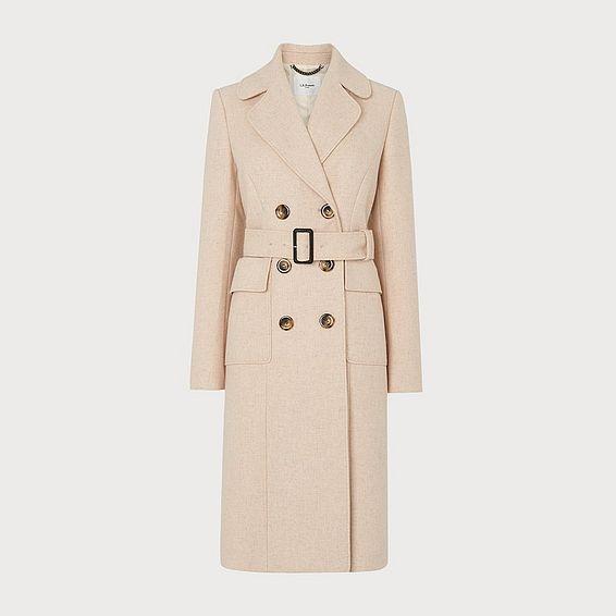 Sophie Oyster Wool-Blend Coat