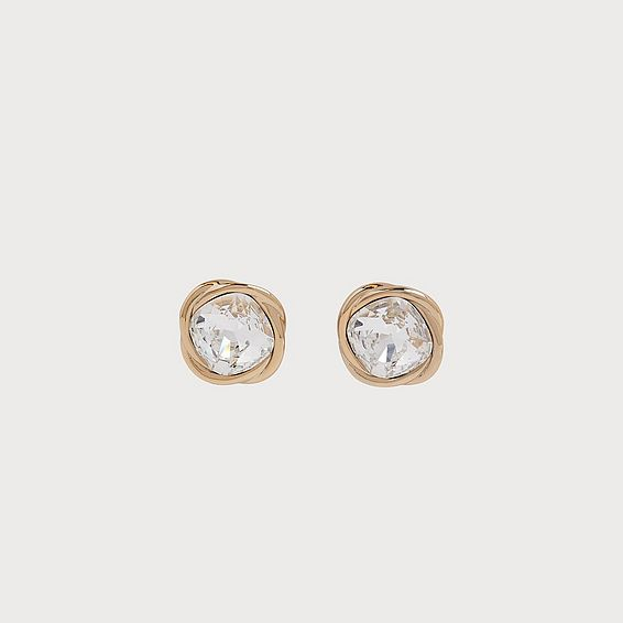 Sydney Swarovski Crystal & Gold-Plated Twist Stud Earrings