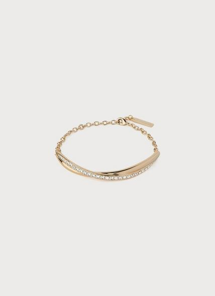 Sydney Swarovski Crystal & Gold-Plated Twist Bracelet