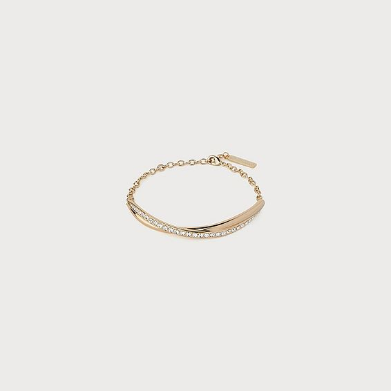 Sydney Swarovski Crystal & Gold-Plated Twist Bracelet