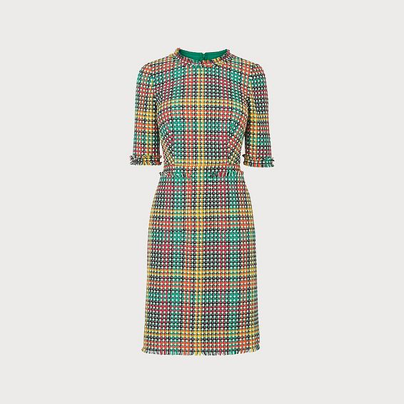 Bonnie Colourful Tweed Dress