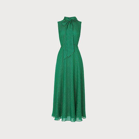 Connie Green Silk Dress