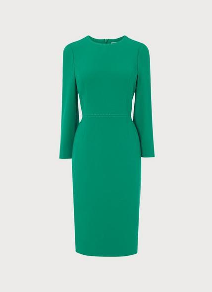 Everett Green Crepe Shift Dress