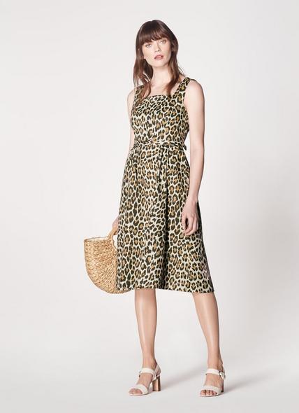Giovanna Leopard Print Sun Dress