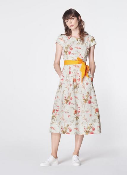 Glenda Roseau Floral Print Cotton Dress