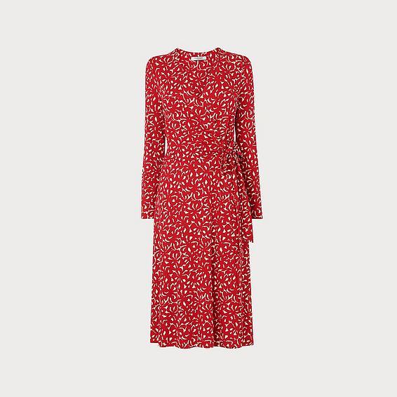 Khloe Abstract Print Jersey Wrap Dress