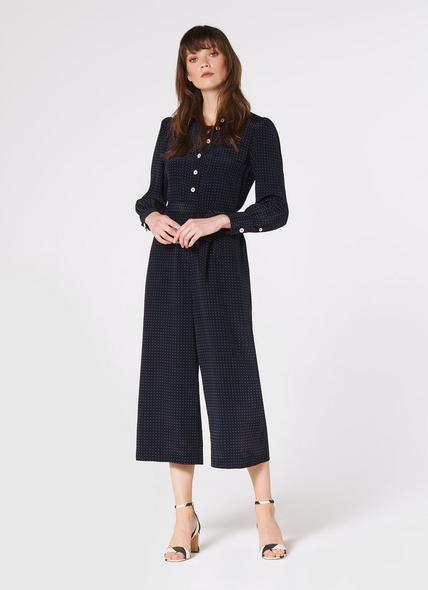 Lois Polka Dot Silk Jumpsuit