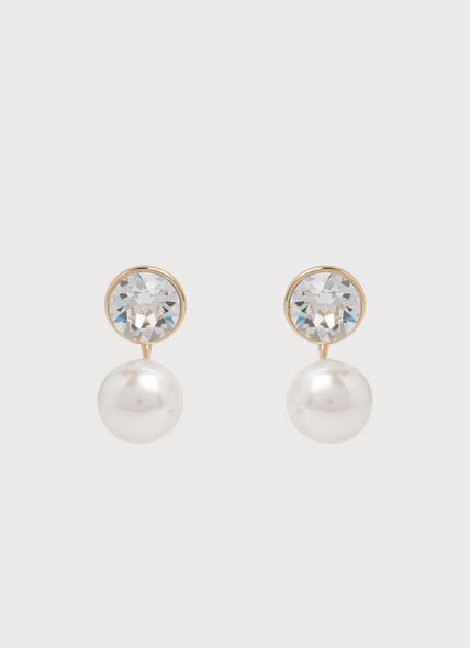 Madrid Swarovski Crystal Grey Pearl Earrings