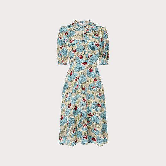 Marceau Tuileries Print Silk Dress