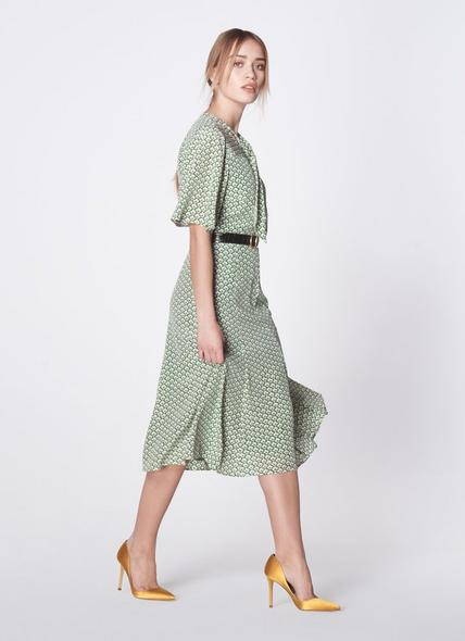Piaf Block Print Silk Dress