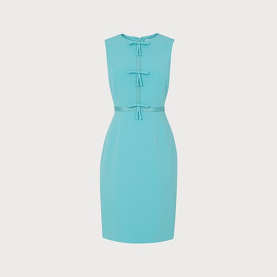 Rosamund Pale Blue Bow Detail Occasion Dress