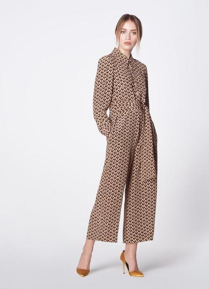 Stockbridge Block Print Silk Jumpsuit
