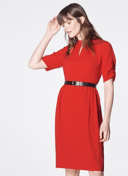 Veronique Red  Dress