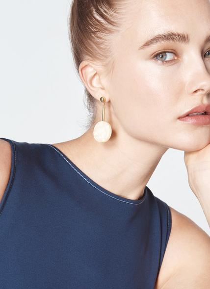 Athens Cream Resin Drop Earrings