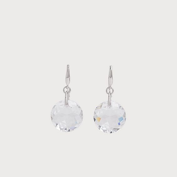 Brooklyn Swarovski Crystal Rhodium-Plated Pendant Earrings