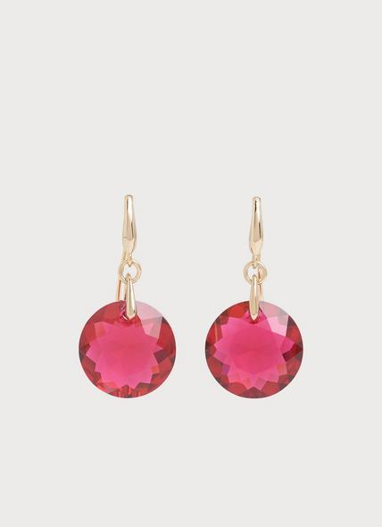 Brooklyn Red Swarovski Crystal Gold-Plated Pendant Earrings
