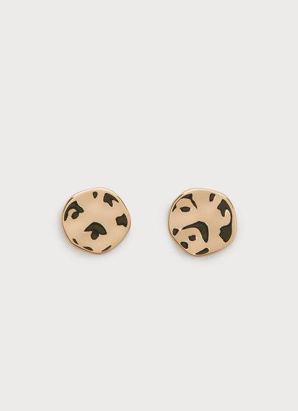 Toronto Gold-Plated Pebble Stud Earrings
