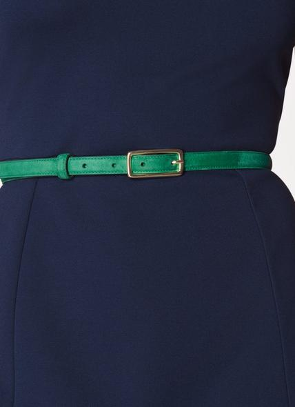 Glenda Green Suede Belt