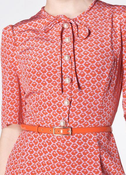 Glenda Orange Patent Leather Belt