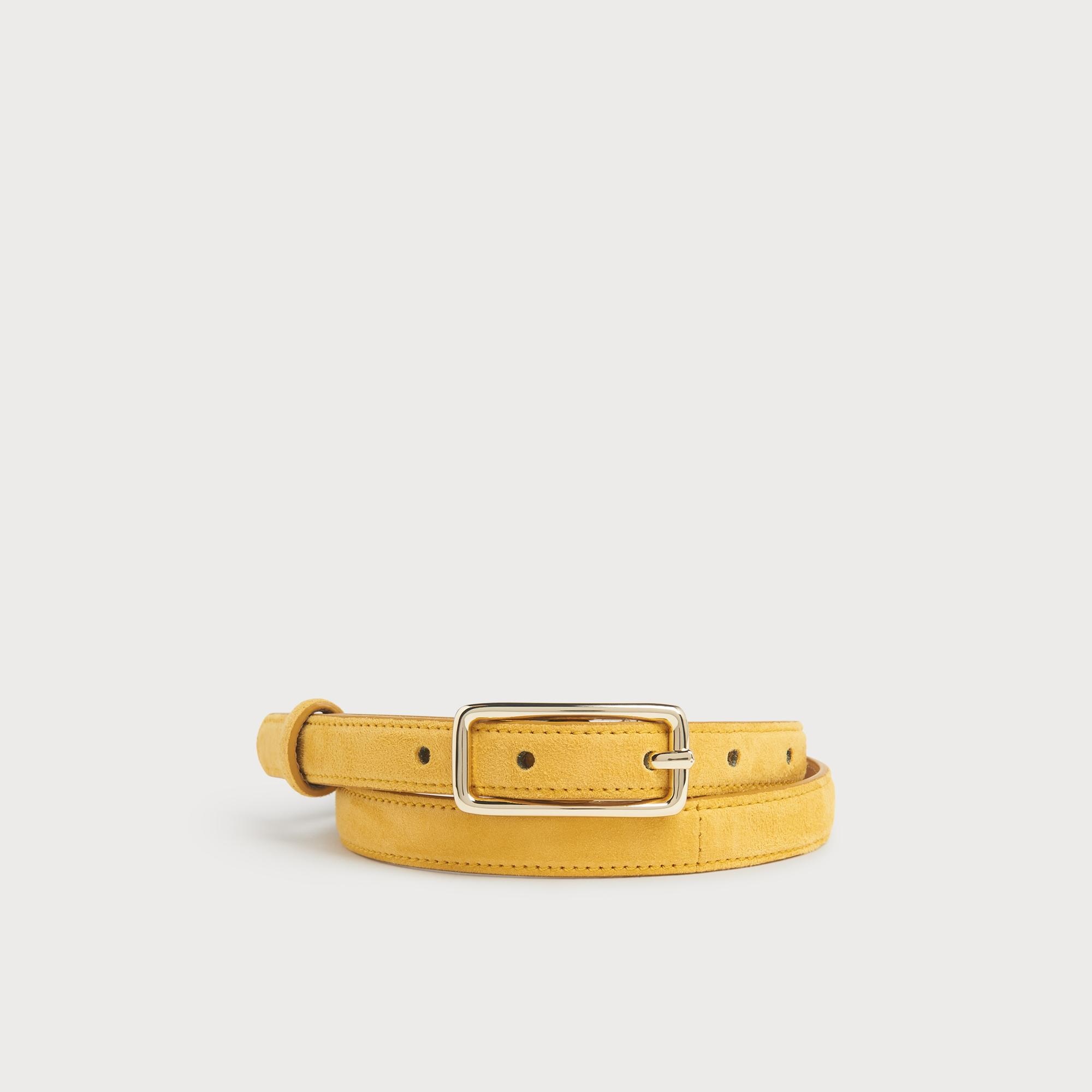 Glenda Yellow Suede Belt