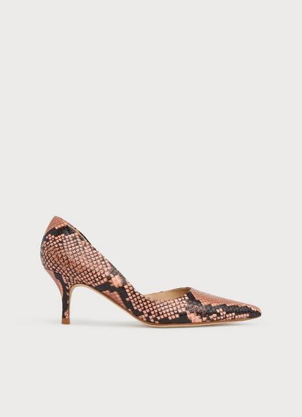 Hazel Pink Snake Print D'Orsay Courts