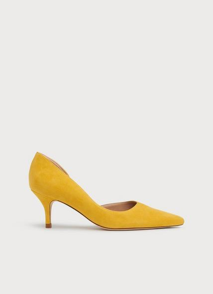 Hazel Yellow Suede D'Orsay Courts