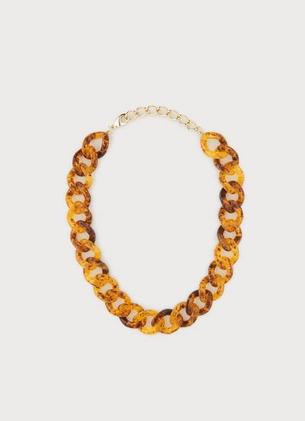 Brighton Tortoise Shell Resin Chain Necklace