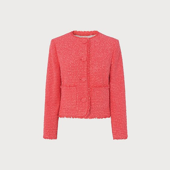 Bernice Pink Tweed Jacket
