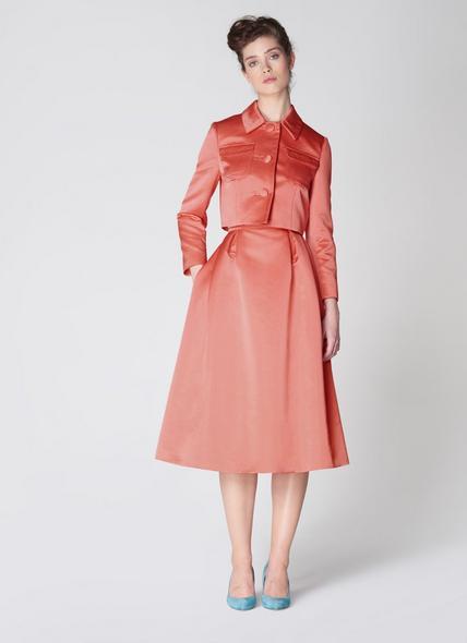 Biarritz Pink Satin Cropped Jacket