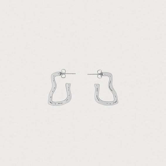 Tokyo Silver-Tone Wavy Hoop Earrings