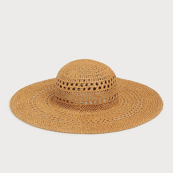 Tulip Straw Floppy Sun Hat