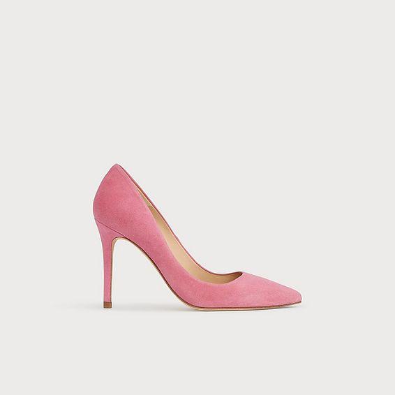 Flora Pink Suede Curve-Cut Courts