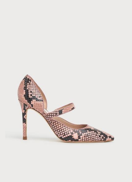 Florence Candy Snake Print Pointed Courts
