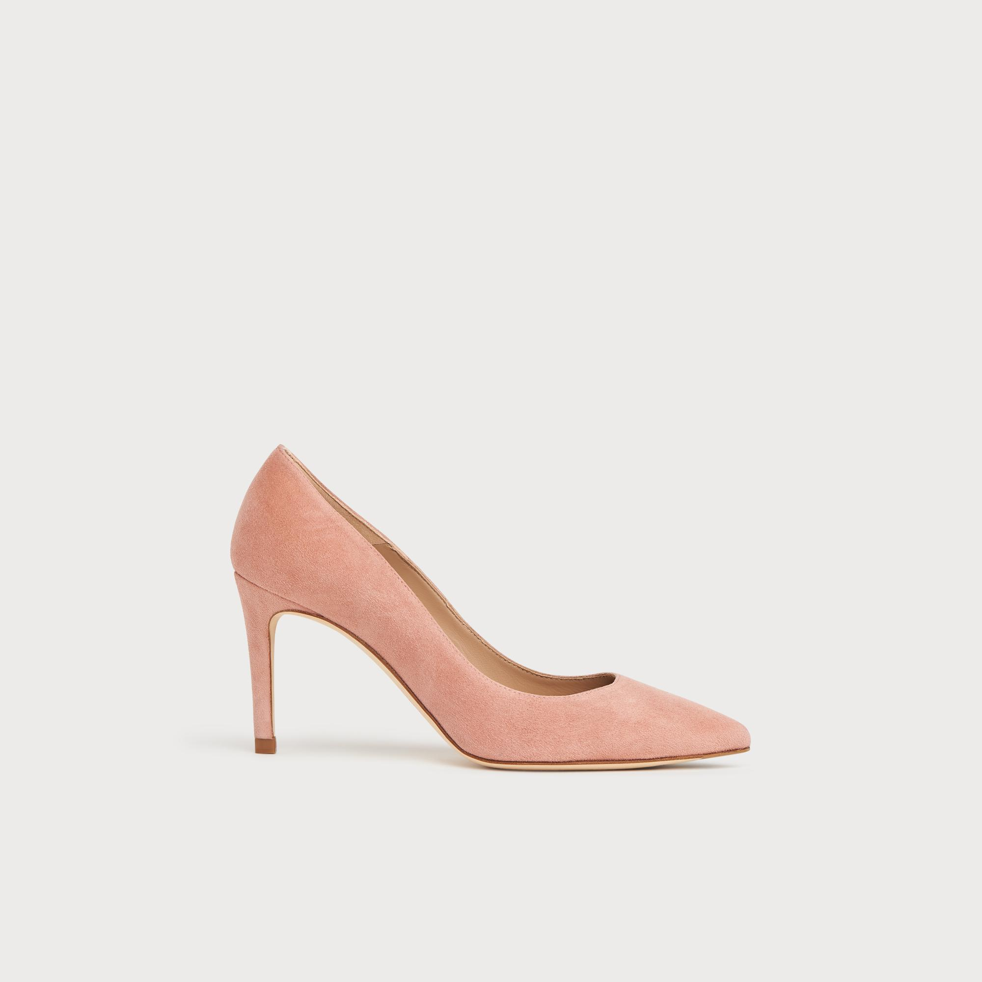 Floret Pink Suede Pointed Toe Courts