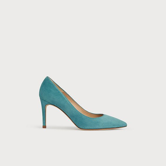 Floret Light Blue Suede Courts