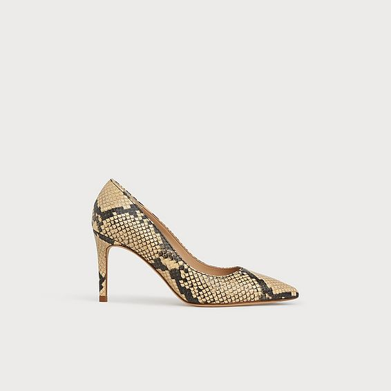 Floret Yellow Snake Print Courts
